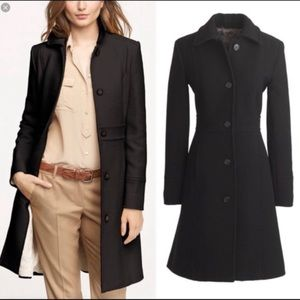J. Crew Lady Day Black Double Cloth Lined Coat 2